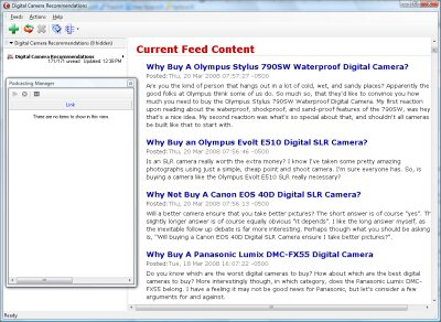 Digital Camera Buying Guide RSS Screenshot