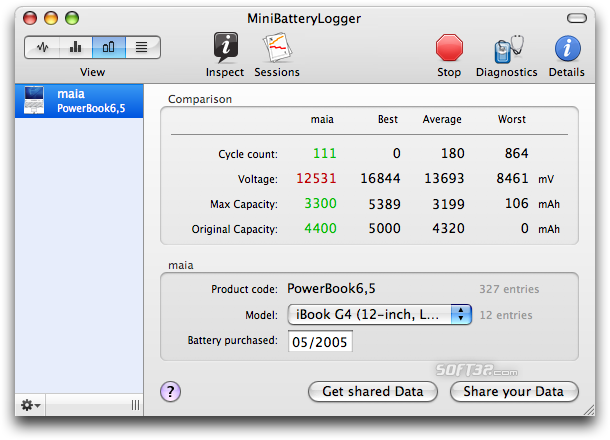 MiniBatteryLogger Screenshot