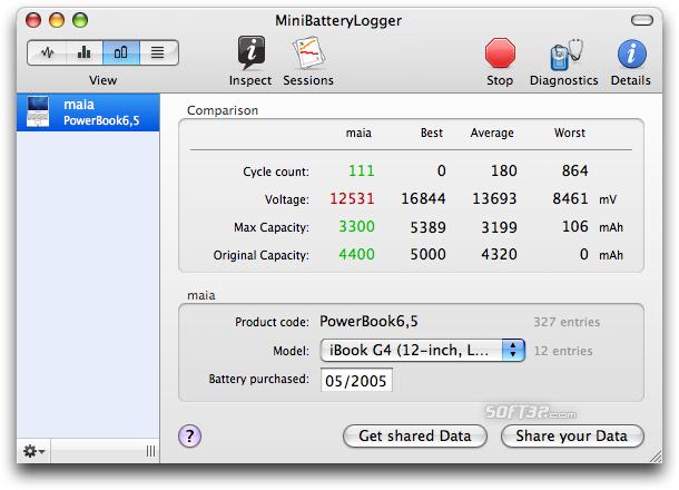 MiniBatteryLogger Screenshot 1