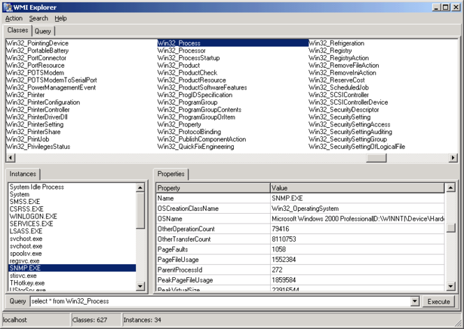 WMI Explorer Screenshot
