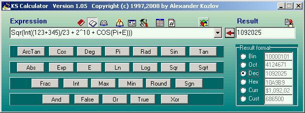 KS Calculator Screenshot 1