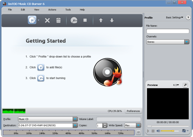 ImTOO Music CD Burner Screenshot