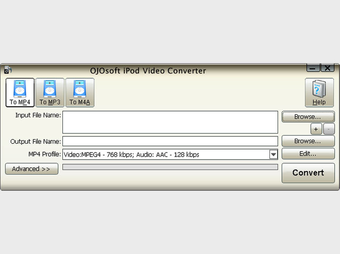 OJOsoft iPod Video Converter Screenshot 1