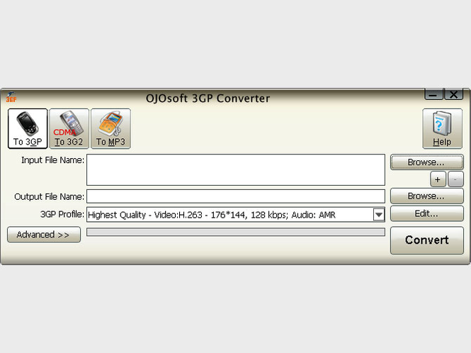 OJOsoft 3GP Converter Screenshot