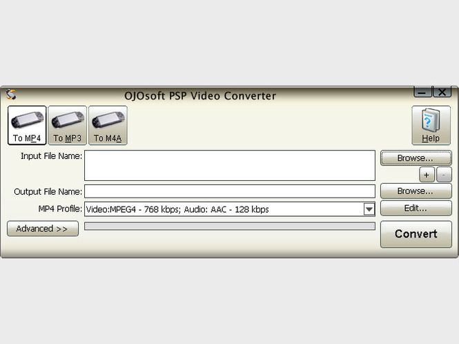 OJOsoft PSP Video Converter Screenshot 1
