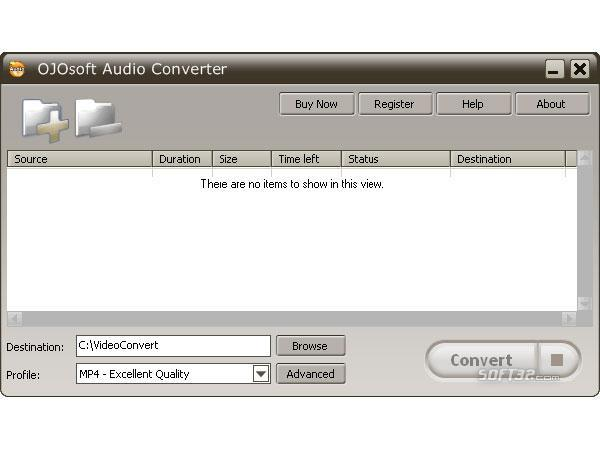 OJOsoft Audio Converter Screenshot 2