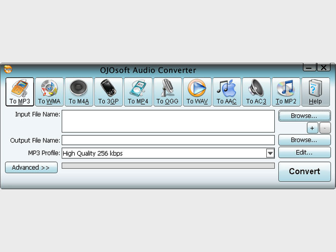 OJOsoft Audio Converter Screenshot
