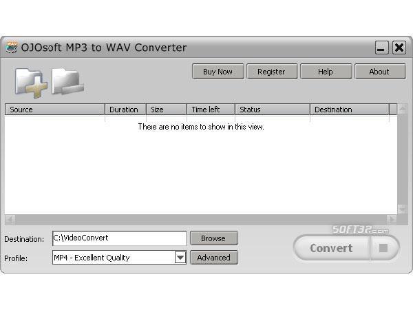 OJOsoft MP3 to WAV Converter Screenshot 2
