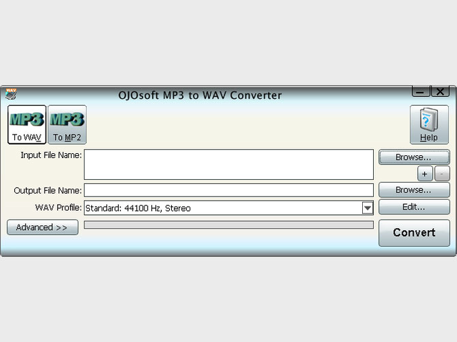 OJOsoft MP3 to WAV Converter Screenshot