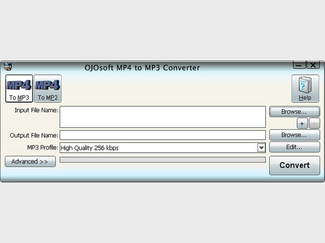 OJOsoft MP4 to MP3 Converter Screenshot 1