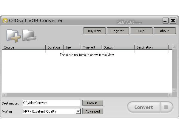 OJOsoft VOB Converter Screenshot 2