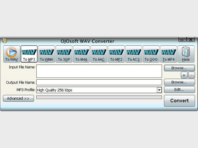 OJOsoft WAV Converter Screenshot