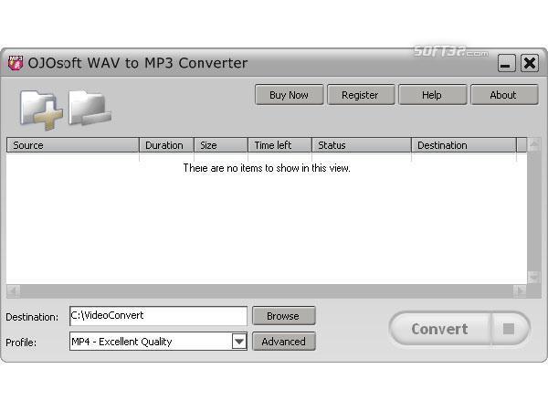 OJOsoft WAV to MP3 Converter Screenshot 2