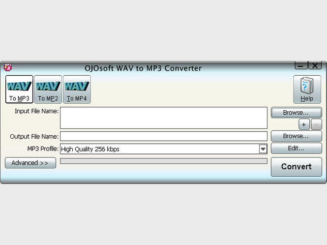 OJOsoft WAV to MP3 Converter Screenshot