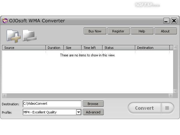 OJOsoft WMA Converter Screenshot 2