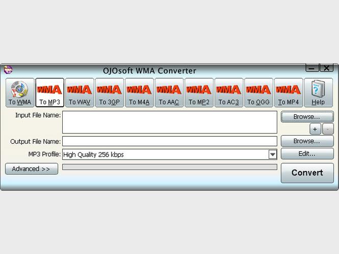 OJOsoft WMA Converter Screenshot