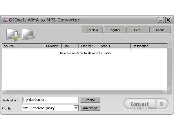 OJOsoft WMA to MP3 Converter Screenshot 2