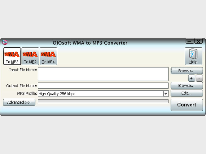 OJOsoft WMA to MP3 Converter Screenshot