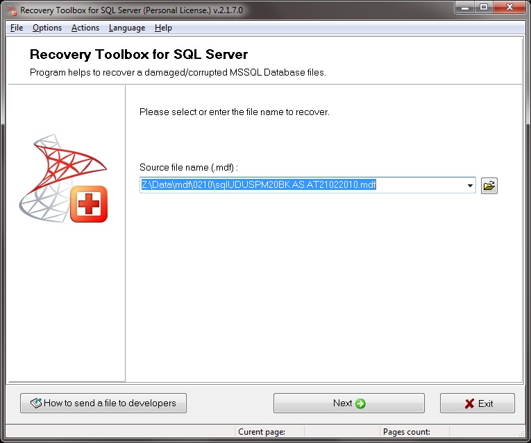Recovery Toolbox for SQL Server Screenshot 2