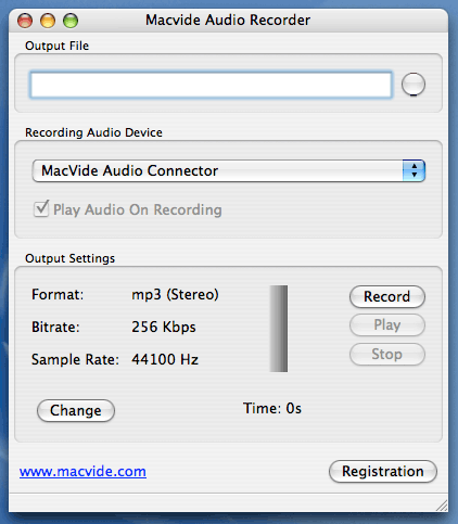 Macvide Audio Recorder Screenshot