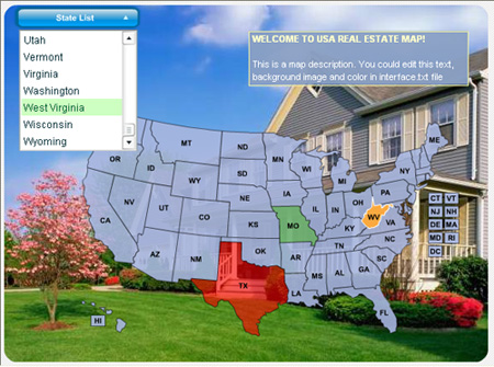 USA Real Estate Map Screenshot 1