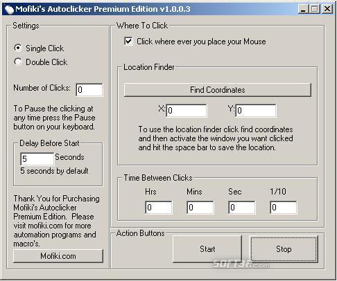 Mofiki's AutoClicker Premium Screenshot 2