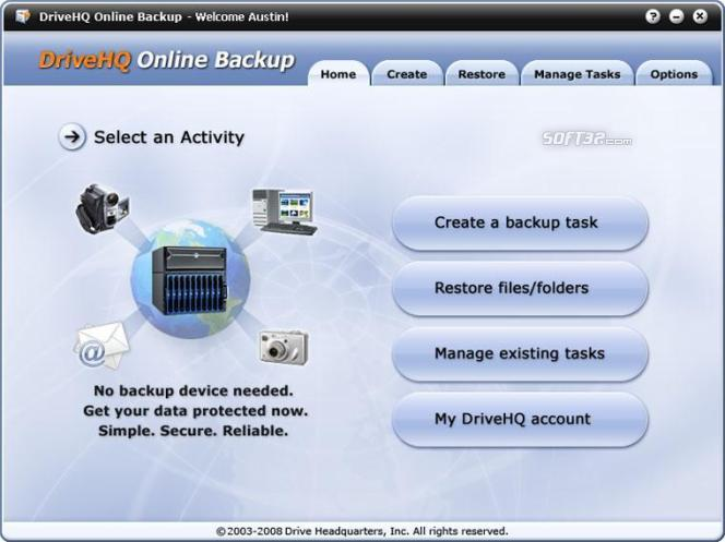 DriveHQ Online Backup Enterprise Edition Screenshot 2