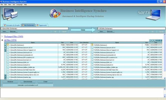 Business Intelligence Synchro Screenshot 2
