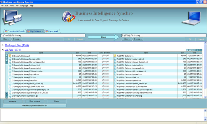 Business Intelligence Synchro Screenshot 1