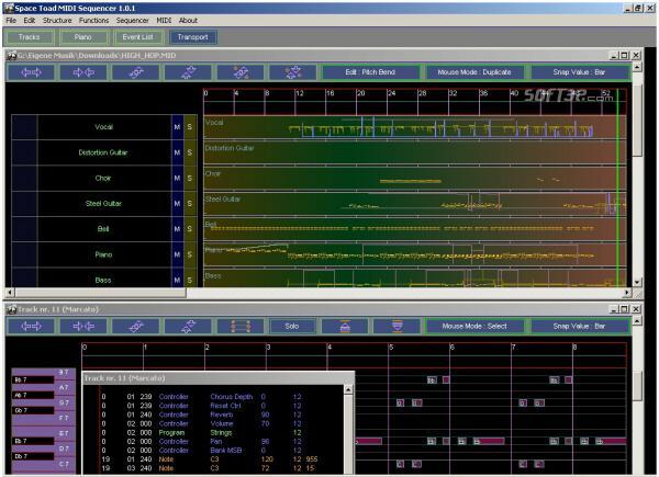 Space Toad MIDI Sequencer Screenshot 3