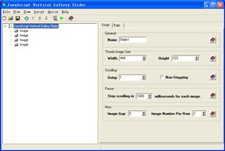 JavaScript Vertical Gallery Slider Screenshot