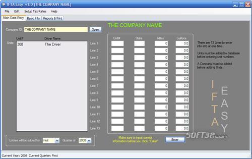 IFTA Software Screenshot 2