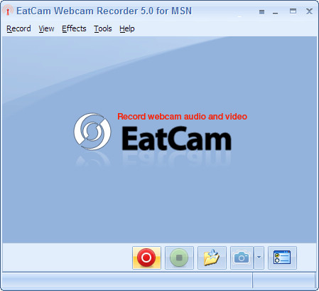 EatCam Webcam Recorder for MSN Screenshot 1