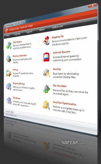 Infibia Easy Tools for Windows 7 Screenshot