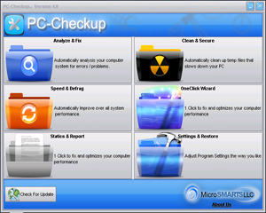 PC Checkup Screenshot