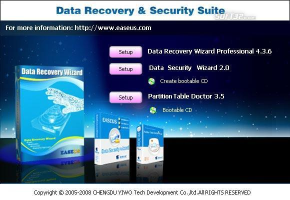EASEUS Data Recovery & Security Suite Screenshot 2