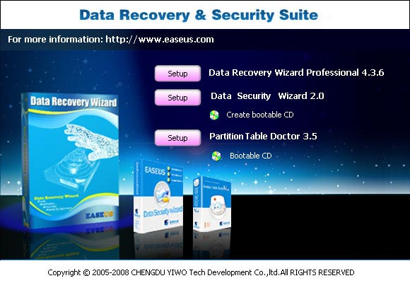 EASEUS Data Recovery & Security Suite Screenshot