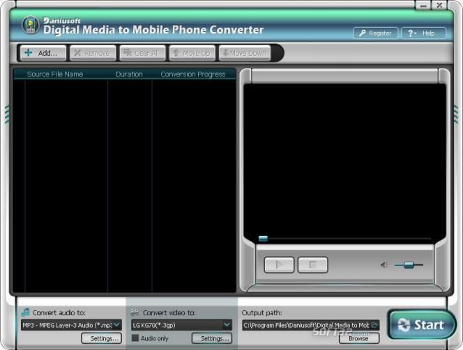 Daniusoft Digital Video to Mobile Phone Converter Screenshot 2