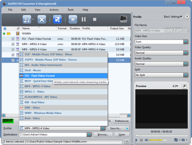 ImTOO FLV Converter Screenshot 5