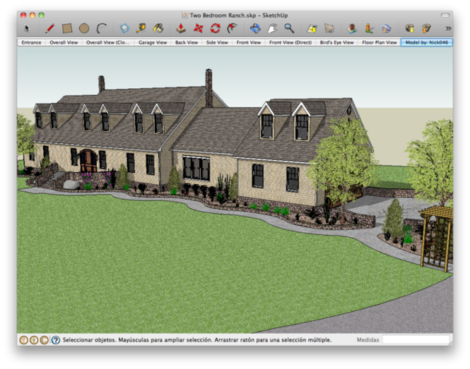 Google SketchUp for Mac Screenshot
