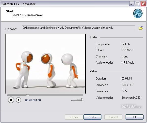Sothink FLV Converter Screenshot 2