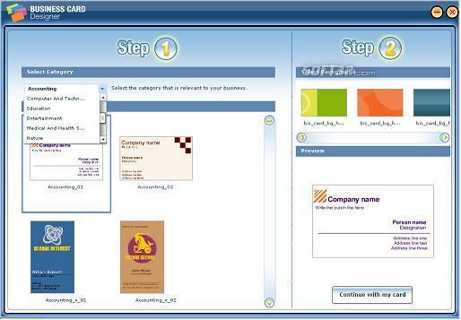 Business Card Designer Screenshot 2