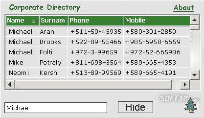 Corporate Directory Screenshot 2