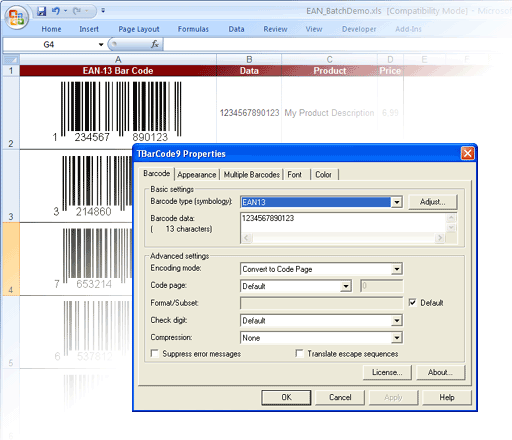 TBarCode - .NET Barcode Software Screenshot 3