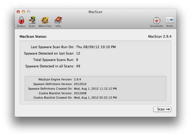 MacScan Screenshot
