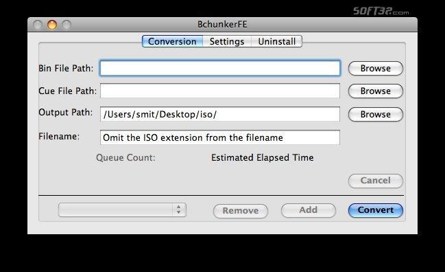 BchunkerFE Screenshot