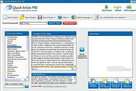 Article Writing Software Screenshot 2