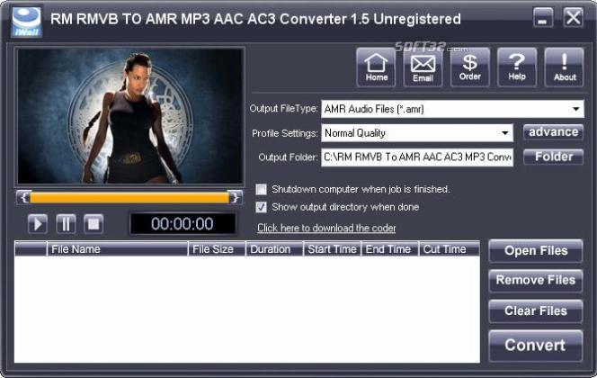 iWellsoft RM RMVB To AMR MP3 Converter Screenshot 3
