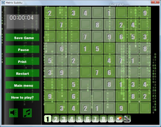 Matrix Sudoku Screenshot