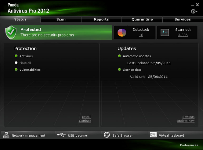 Panda Antivirus 2008 Screenshot
